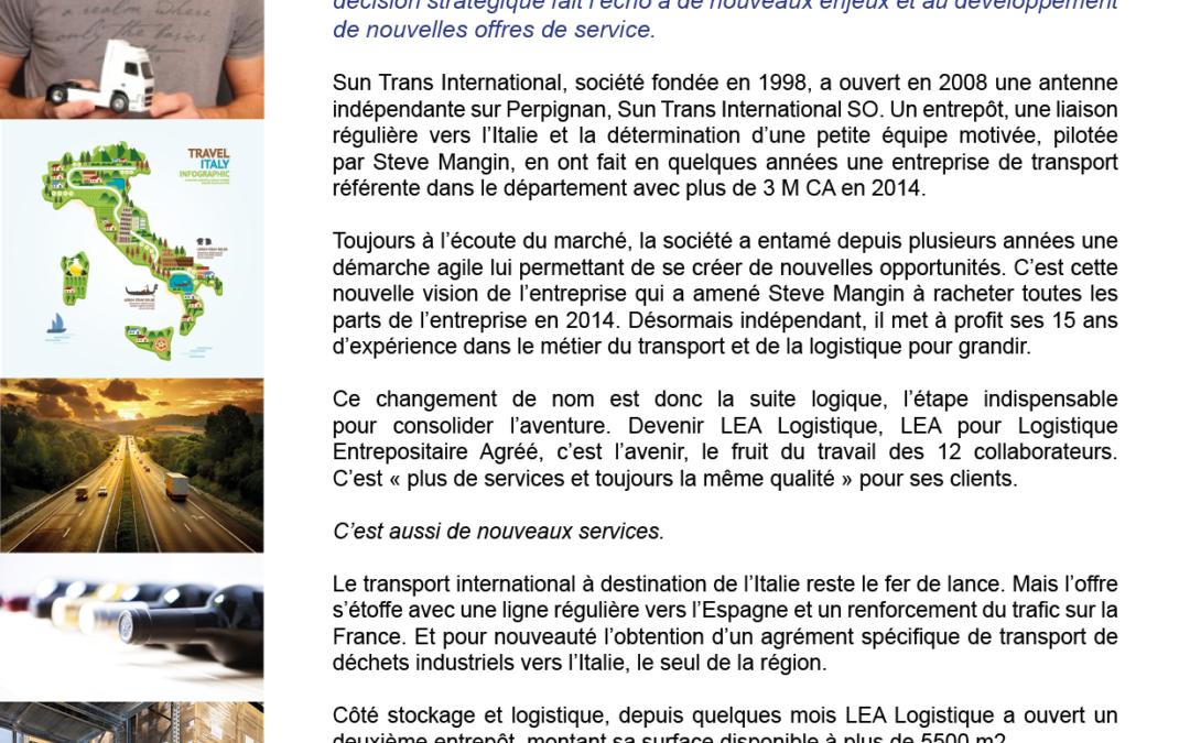 Sun trans International SO grandit et devient LEA Logistique
